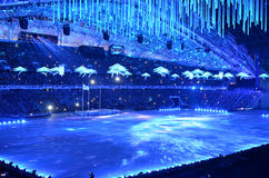The closing ceremony of the Paralympic Winter Games 2014 Stock Photo