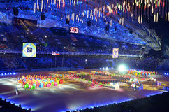 The closing ceremony of the Paralympic Winter Games 2014 Stock Photography