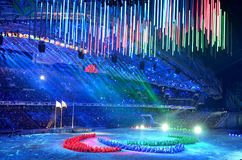 The closing ceremony of the Paralympic Winter Games 2014 Royalty Free Stock Images