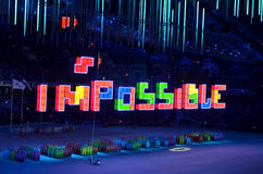 The closing ceremony of the Paralympic Winter Games 2014 Royalty Free Stock Photo