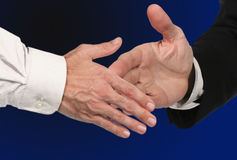 Closing the Deal With a Handshake. Men Shaking Hands for a Business Deal Royalty Free Stock Photography