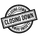 Closing Down rubber stamp