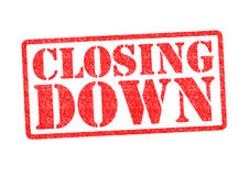 CLOSING DOWN Stock Images