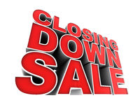 Closing Down Sale. Stock Photography