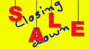 Closing down sale. Stock Image