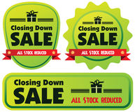 Closing down sale label Stock Images