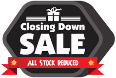 Closing down sale label Stock Photography