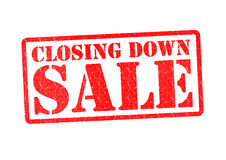 CLOSING DOWN SALE Royalty Free Stock Images