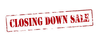 Closing down sale Royalty Free Stock Photo