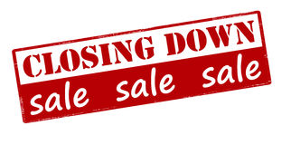 Closing down sale. Rubber stamp with text closing down sale inside,  illustration Stock Images