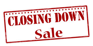 Closing down sale Royalty Free Stock Image