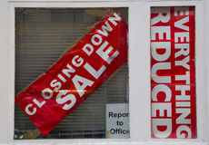 Closing down sale sign Stock Photography