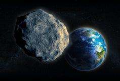 Closing en forme d'étoile dedans sur terre illustration stock