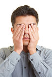 Closing the eyes Royalty Free Stock Photography