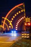 Closing ferroviario della barriera Immagine Stock Libera da Diritti