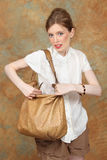 Closing handbag Stock Images