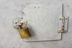 Closing lock for security. Closing old lock for security Royalty Free Stock Photography