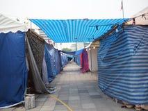 Closing market . street market Royalty Free Stock Photo