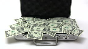 Closing Money Case Royalty Free Stock Image