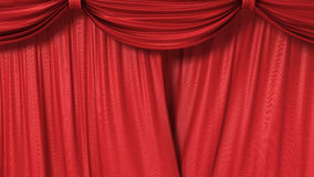 Closing red curtain Stock Photos