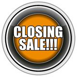 Closing Sale Button Vector, Easily Editable. Royalty Free Stock Images