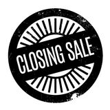 Closing Sale rubber stamp. Grunge design with dust scratches. Effects can be easily removed for a clean, crisp look. Color is easily changed Royalty Free Stock Photos