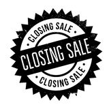 Closing Sale rubber stamp. Grunge design with dust scratches. Effects can be easily removed for a clean, crisp look. Color is easily changed Stock Photos
