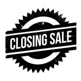 Closing Sale rubber stamp. Grunge design with dust scratches. Effects can be easily removed for a clean, crisp look. Color is easily changed Stock Image