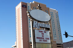 Closing sign, Riviera Hotel, Las Vegas, Nevada. Royalty Free Stock Photography