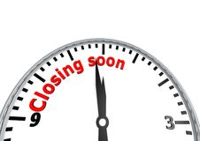 Closing soon Royalty Free Stock Photo