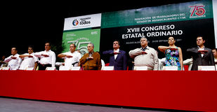 Closing state Congress XVII Ordinary of workers Royalty Free Stock Image