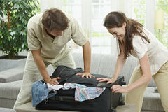 Closing suitcase Royalty Free Stock Images