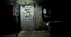 Closed store. At night Royalty Free Stock Photography