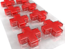 closs απομονωμένα χάπια Στοκ φωτογραφία με δικαίωμα ελεύθερης χρήσης