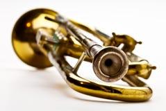 Closuep di una tromba Fotografie Stock