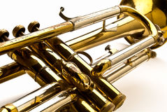 Closuep of a Trumpet Royalty Free Stock Image