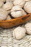 Closup грецкие орехи в шаре Стоковые Фотографии RF