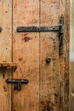 closup brown  old wooden door Royalty Free Stock Images