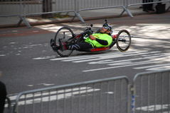Closup de coureur de marathon de 2014 NYC Photo stock