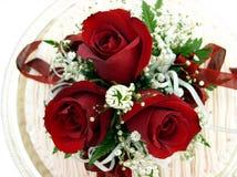 Closup de gâteau de mariage visualisé de ci-avant Image stock