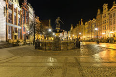 A closup of Neptune statue in Gdansk Stock Photos