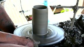 Closup of pottery Sgt handmade stock video
