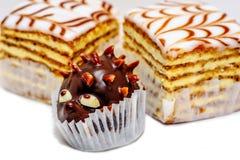 Closup widok słodcy torty zdjęcie stock