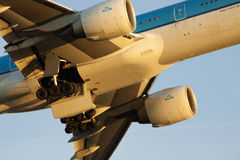 Closupphoto of a klm jet  engine Stock Photos