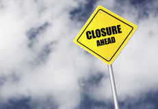 Closure ahead sign Royalty Free Stock Image