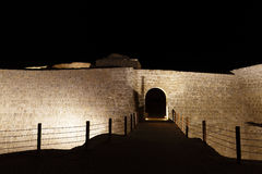 Closure look of the entrance of Bahrain fort Royalty Free Stock Photography
