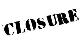 Closure stamp rubber grunge. Closure stamp. Grunge design with dust scratches. Effects can be easily removed for a clean, crisp look. Color is easily changed Stock Photos