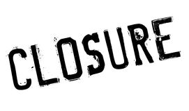 Closure stamp rubber grunge Royalty Free Stock Photography
