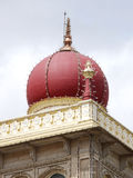 Closure view of pink marble domes of Mysore palace Royalty Free Stock Photos