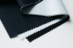 Cloth. Three pieces of cloth with white background royalty free stock photo